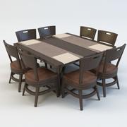 ENSEMBLE À MANGER DE TABLE ET CHAISE 3d model