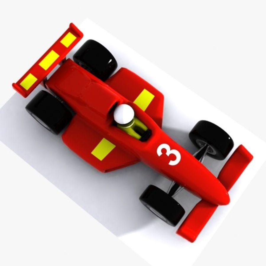 Cartoon Racing Car 1 royalty-free 3d model - Preview no. 5