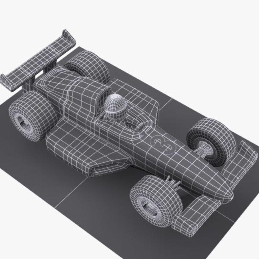 Cartoon Racing Car 1 royalty-free 3d model - Preview no. 8