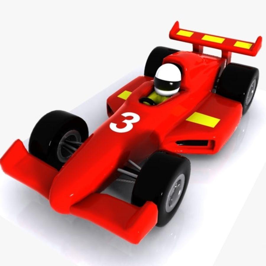 Cartoon Racing Car 1 royalty-free 3d model - Preview no. 1