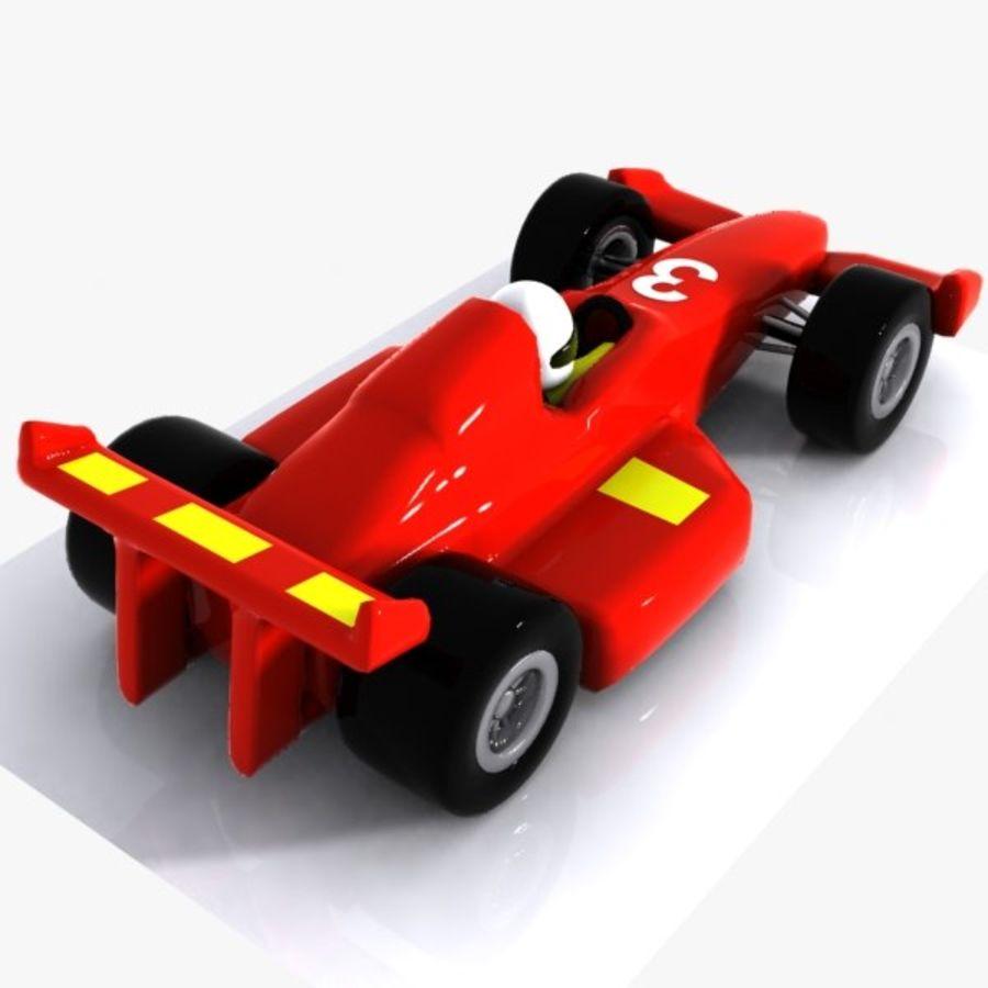 Cartoon Racing Car 1 royalty-free 3d model - Preview no. 6