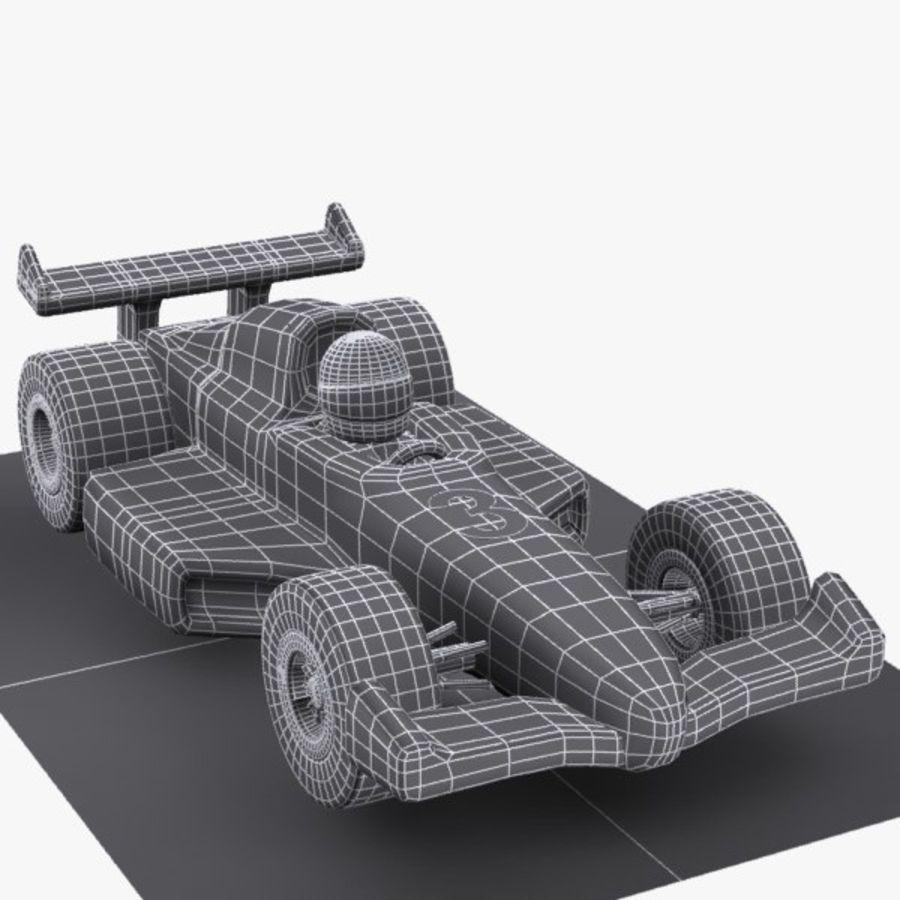 Cartoon Racing Car 1 royalty-free 3d model - Preview no. 9