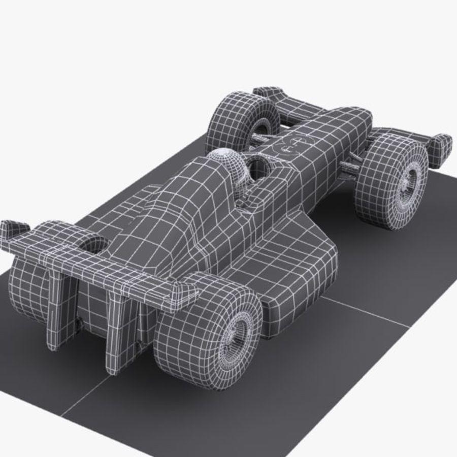 Cartoon Racing Car 1 royalty-free 3d model - Preview no. 12
