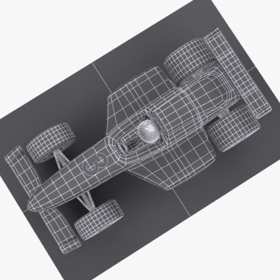 Cartoon Racing Car 1 royalty-free 3d model - Preview no. 11