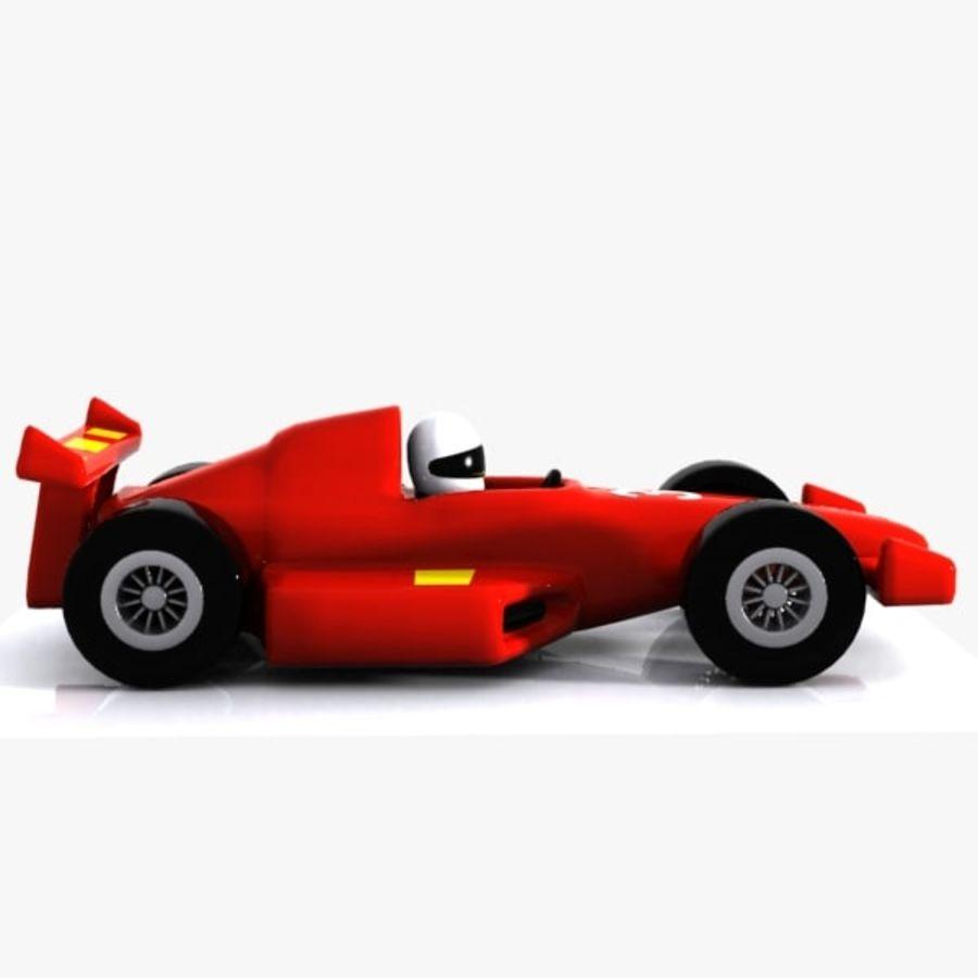Cartoon Racing Car 1 royalty-free 3d model - Preview no. 7
