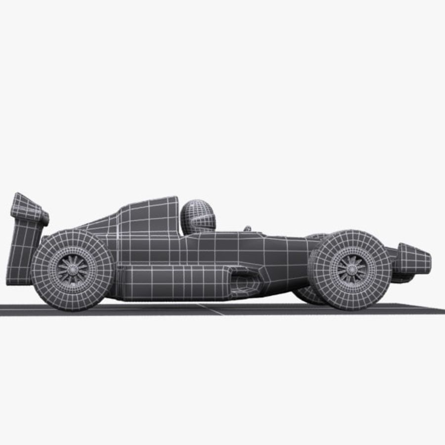Cartoon Racing Car 1 royalty-free 3d model - Preview no. 10