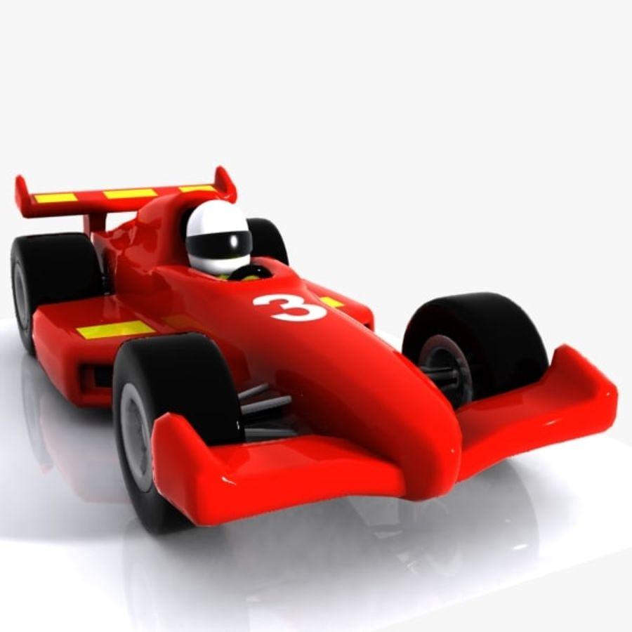 Cartoon Racing Car 1 royalty-free 3d model - Preview no. 4