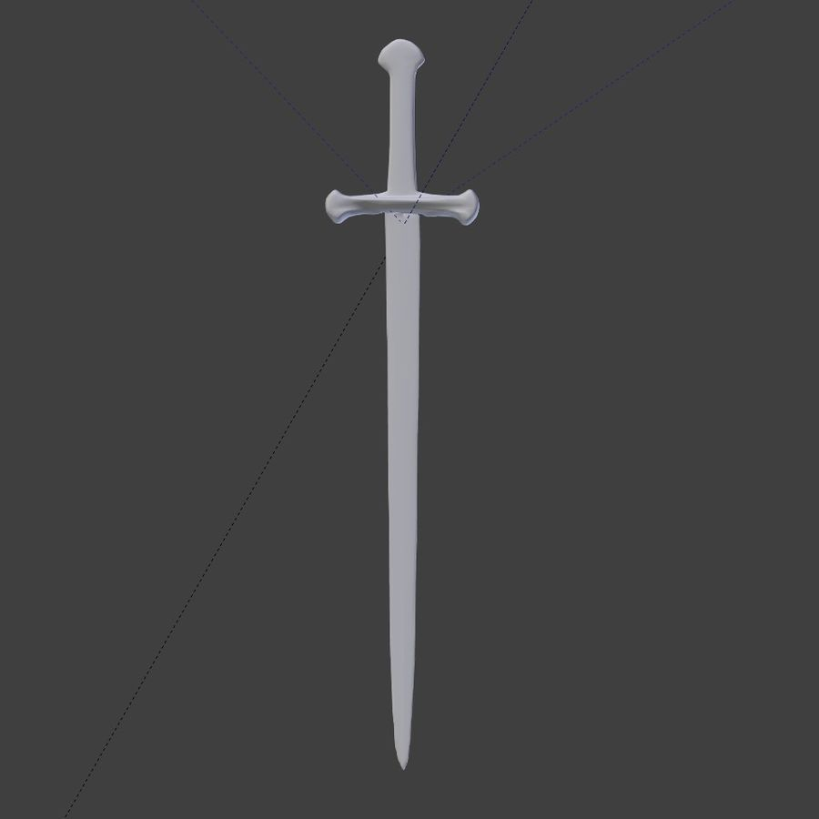 Sword Lord of the Rings Inspired royalty-free 3d model - Preview no. 6