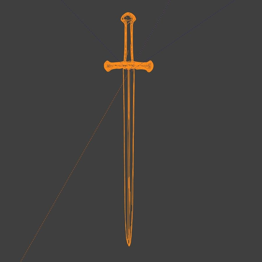 Sword Lord of the Rings Inspired royalty-free 3d model - Preview no. 7