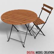 bistro furniture set 02 3d model