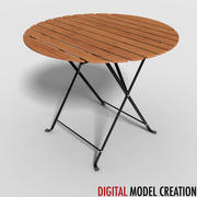 bistro table 02 3d model