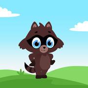 Toon Rocky Raccoon 3d model