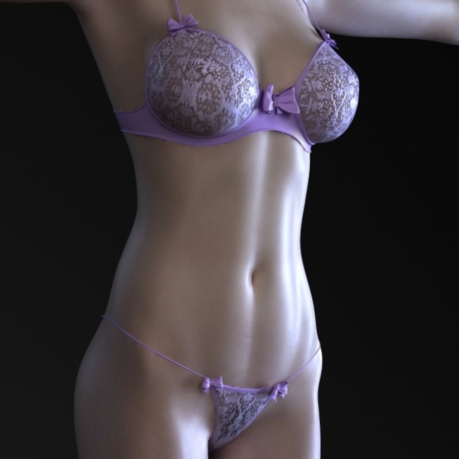 Menina 3 royalty-free 3d model - Preview no. 3