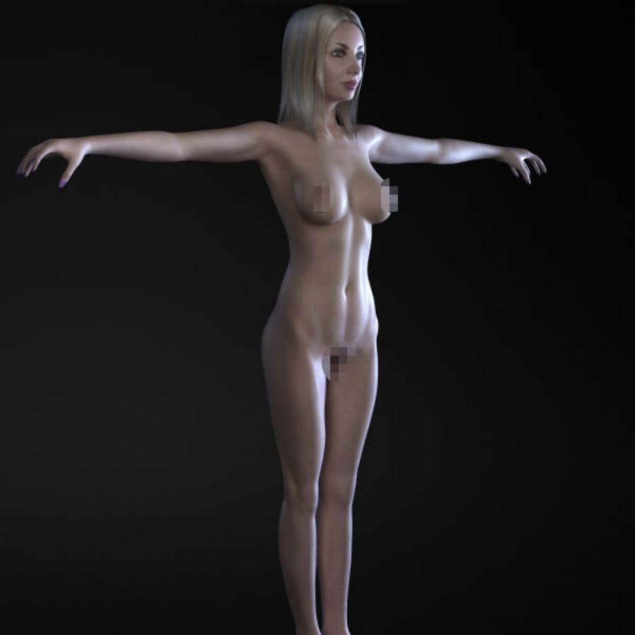 Girl 3 royalty-free 3d model - Preview no. 6
