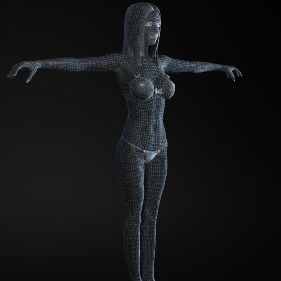 Girl 3 royalty-free 3d model - Preview no. 8