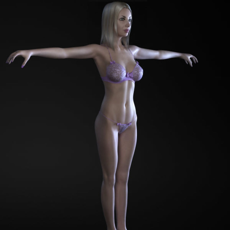 Girl 3 royalty-free 3d model - Preview no. 2
