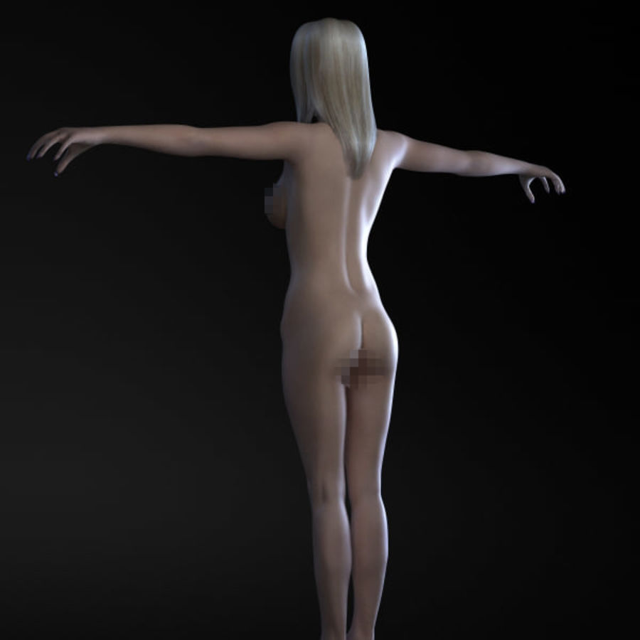 Girl 3 royalty-free 3d model - Preview no. 7