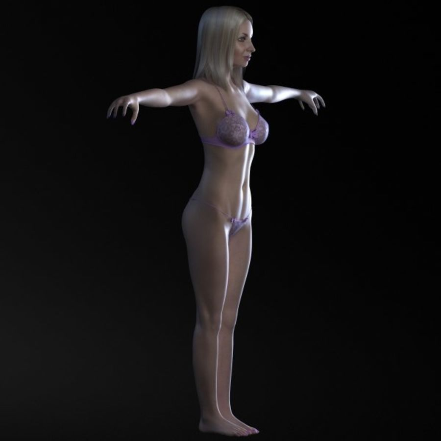 Girl 3 royalty-free 3d model - Preview no. 4