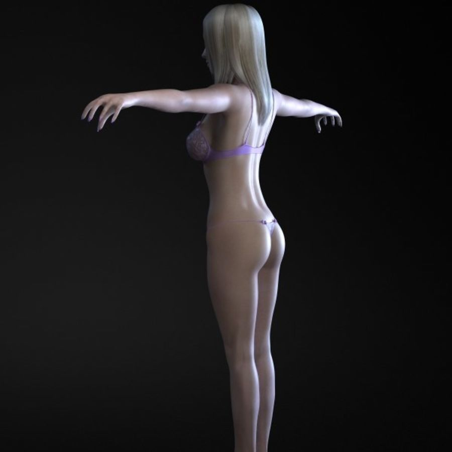 Girl 3 royalty-free 3d model - Preview no. 5