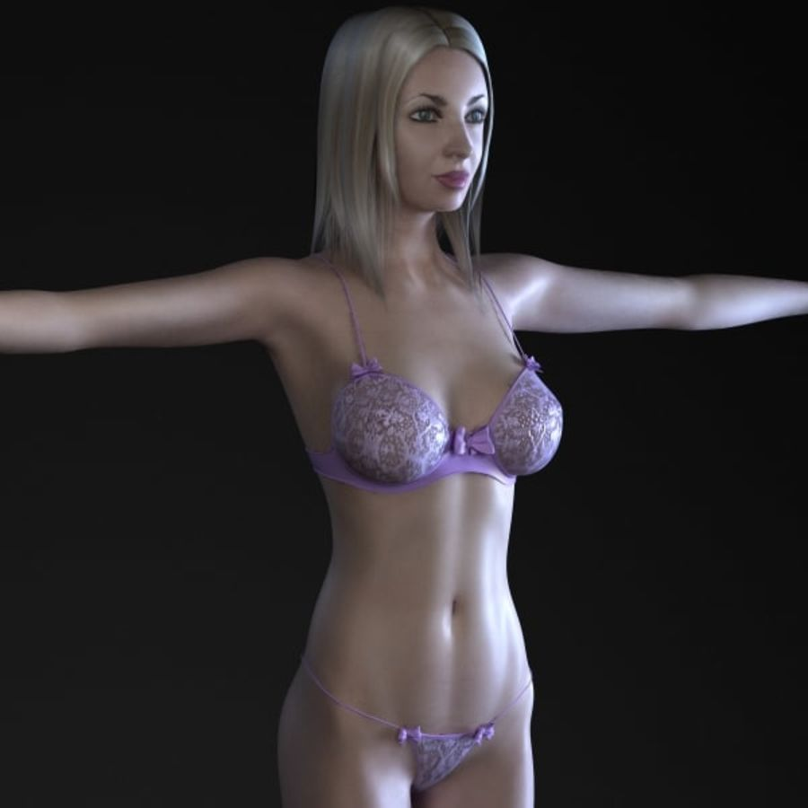Girl 3 royalty-free 3d model - Preview no. 1