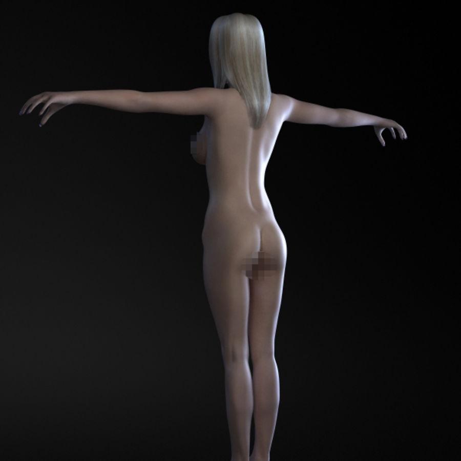 Menina 3 royalty-free 3d model - Preview no. 7
