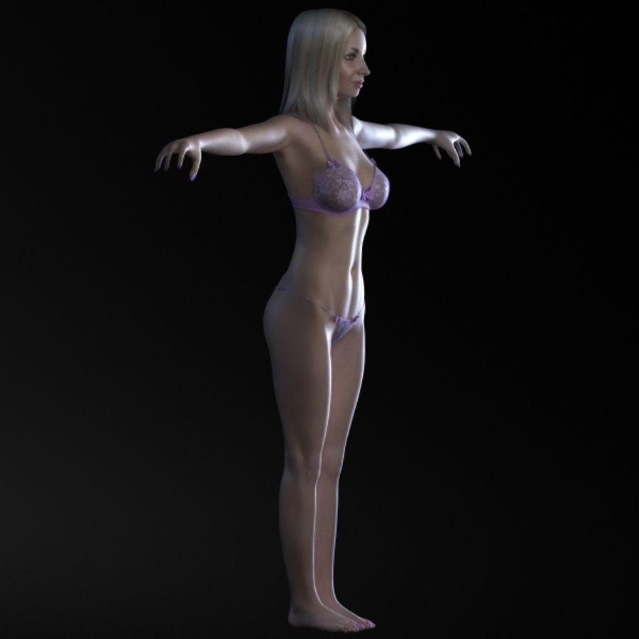 Menina 3 royalty-free 3d model - Preview no. 4