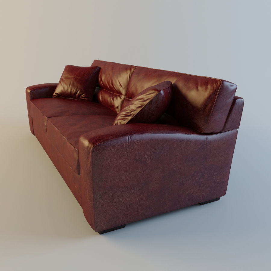 Panther Brown Leather Sofa 3d Model 39 Obj Fbx Max