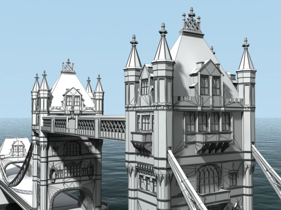 Tower Bridge - London royalty-free 3d model - Preview no. 3