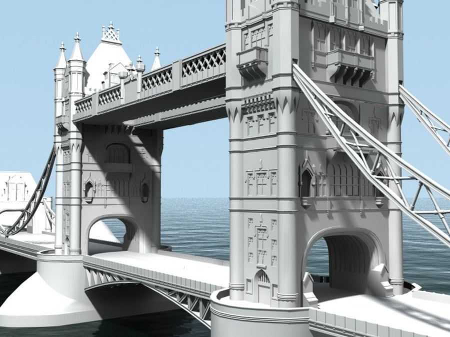 Tower Bridge - London royalty-free 3d model - Preview no. 1