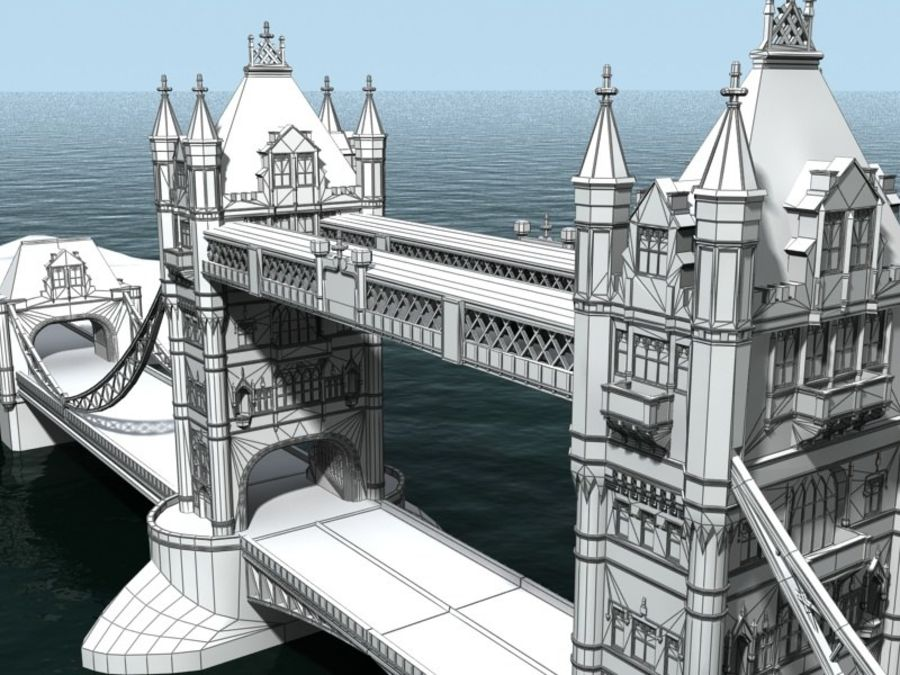 Tower Bridge - London royalty-free 3d model - Preview no. 6
