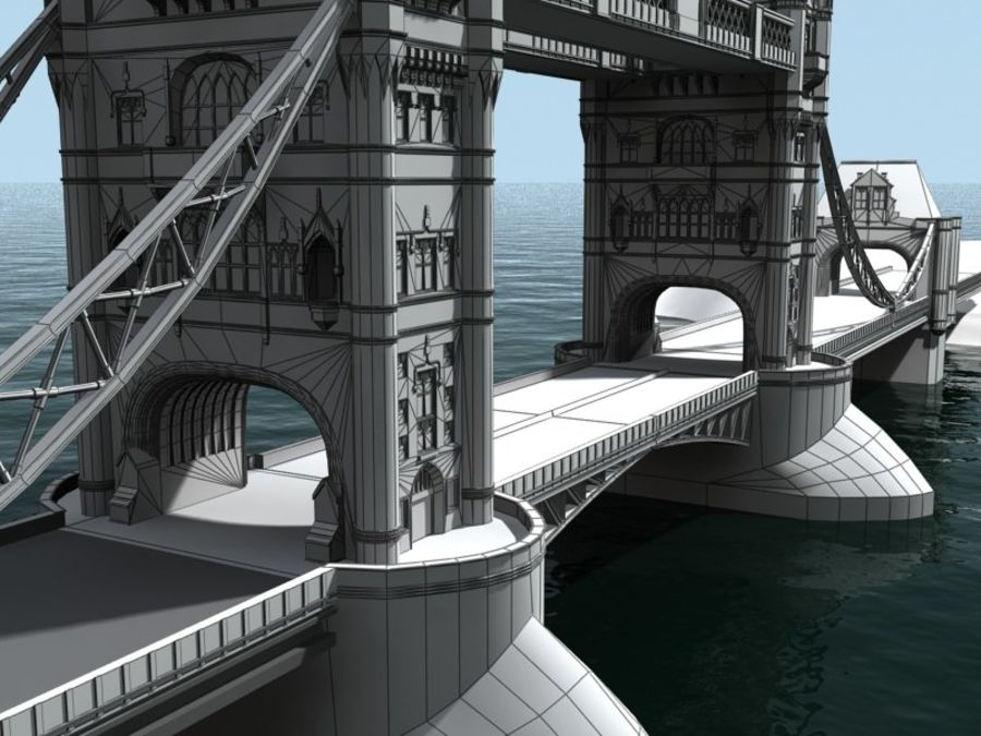 Tower Bridge - London royalty-free 3d model - Preview no. 7