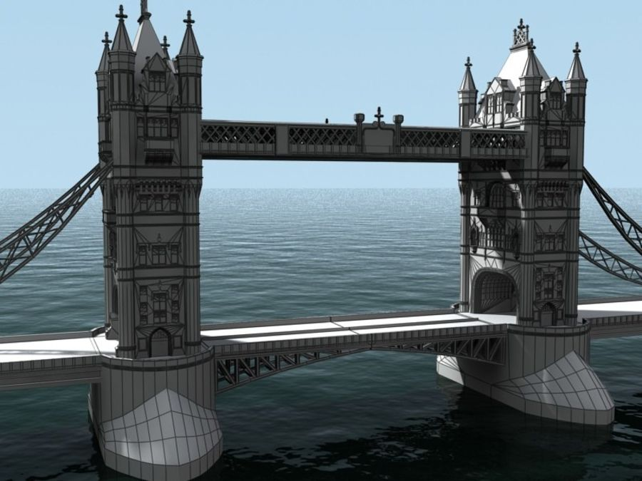 Tower Bridge - London royalty-free 3d model - Preview no. 8