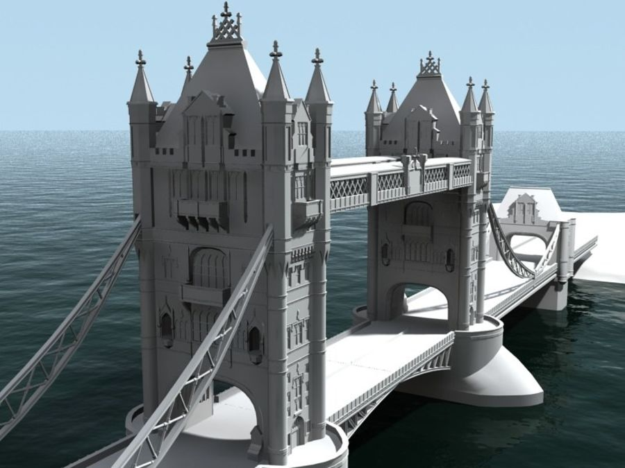 Tower Bridge - London royalty-free 3d model - Preview no. 4