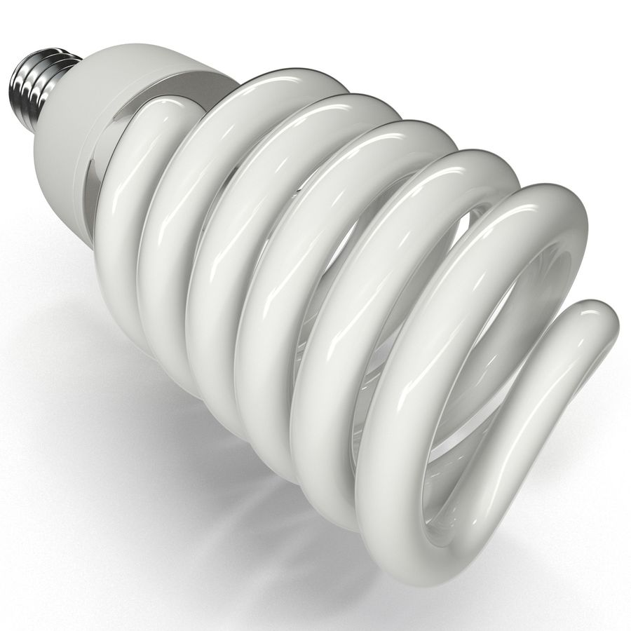 Compact Fluorescent Bulb royalty-free 3d model - Preview no. 9