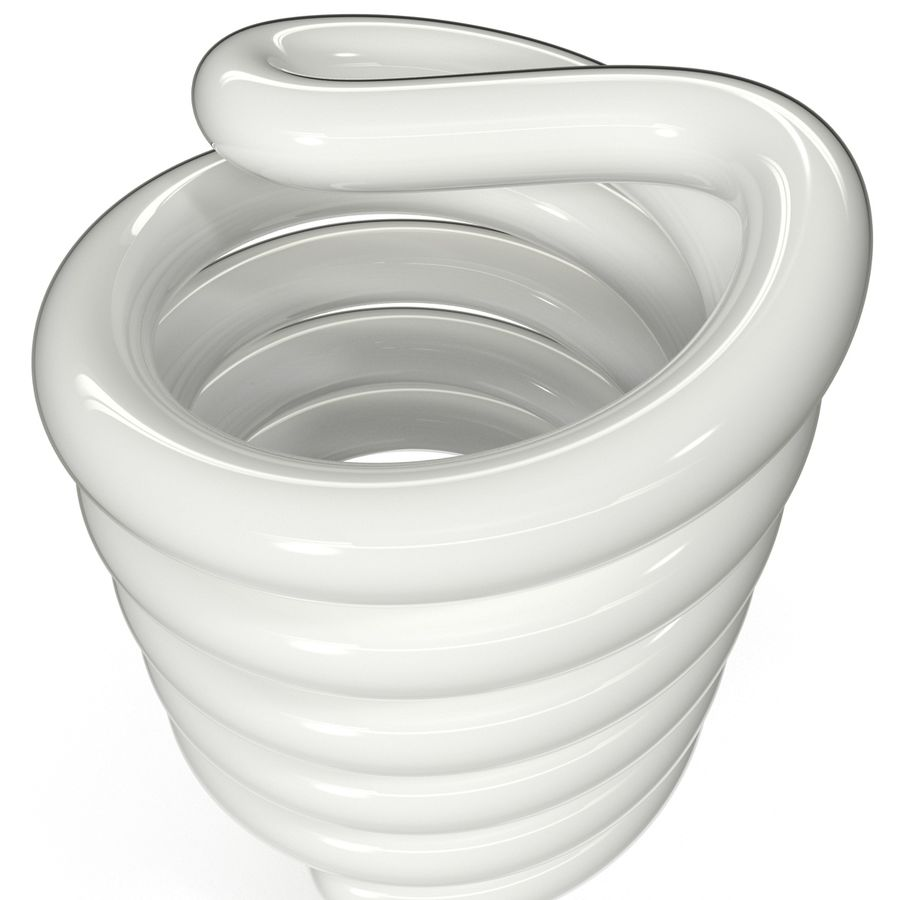 Compact Fluorescent Bulb royalty-free 3d model - Preview no. 7