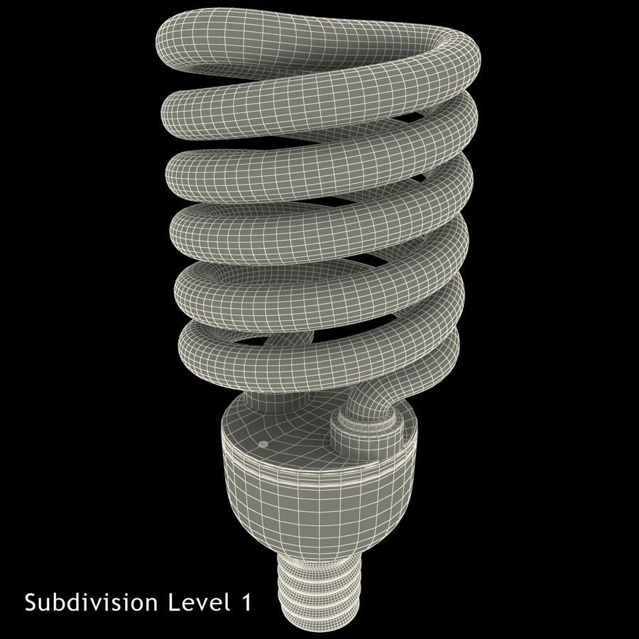 Compact Fluorescent Bulb royalty-free 3d model - Preview no. 18