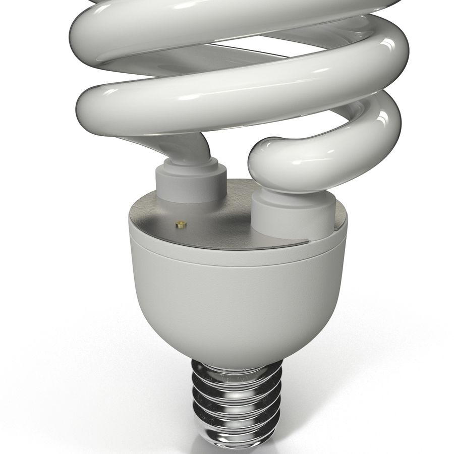 Compact Fluorescent Bulb royalty-free 3d model - Preview no. 6