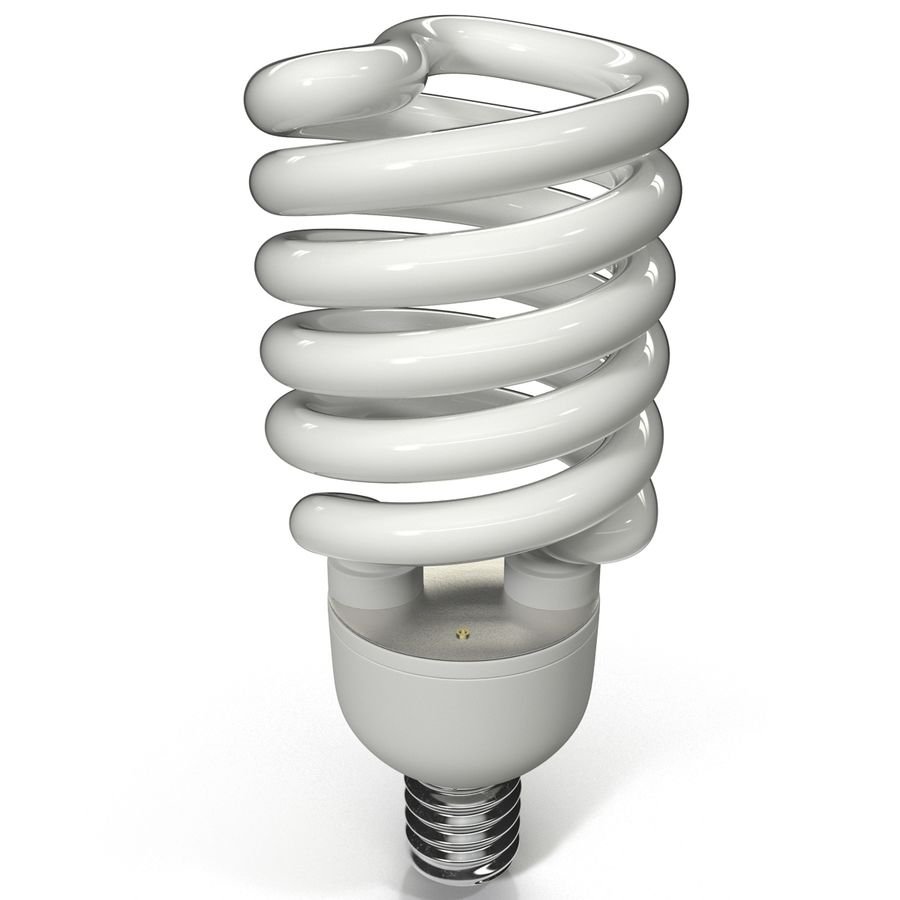 Compact Fluorescent Bulb royalty-free 3d model - Preview no. 5