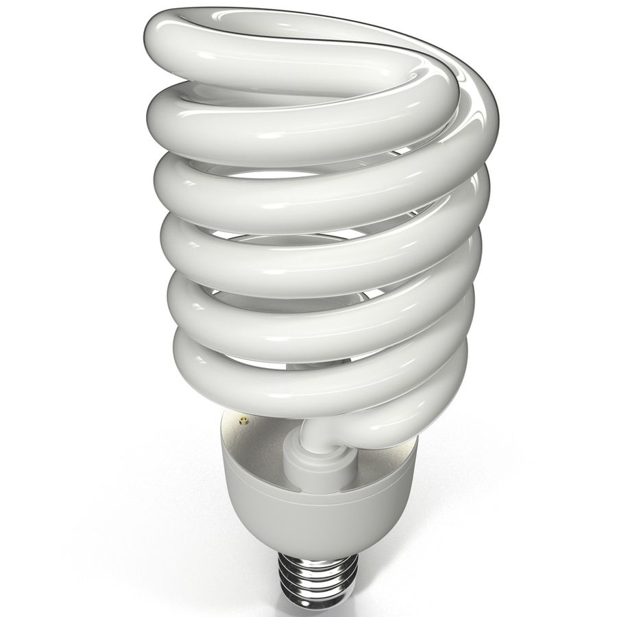 Compact Fluorescent Bulb royalty-free 3d model - Preview no. 3