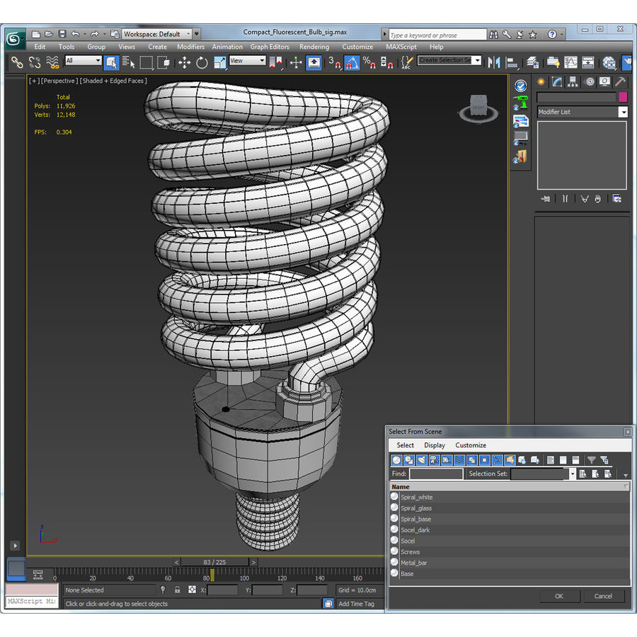 Compact Fluorescent Bulb royalty-free 3d model - Preview no. 21