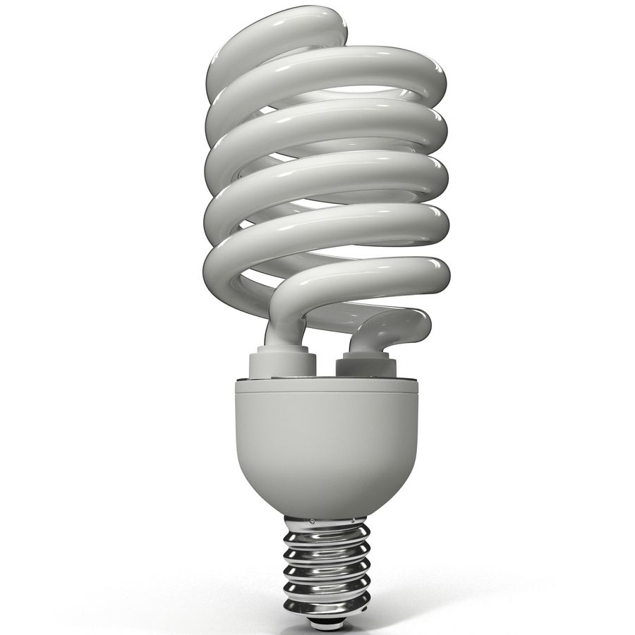 Compact Fluorescent Bulb royalty-free 3d model - Preview no. 4