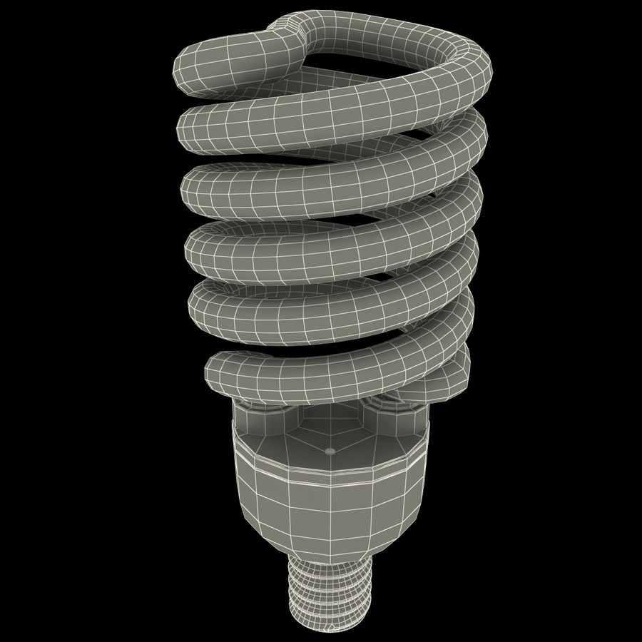 Compact Fluorescent Bulb royalty-free 3d model - Preview no. 12