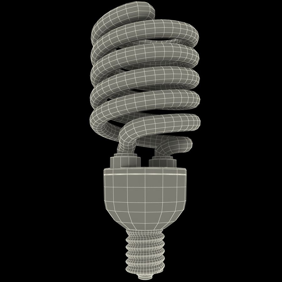 Compact Fluorescent Bulb royalty-free 3d model - Preview no. 11