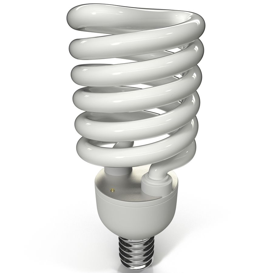 Compact Fluorescent Bulb royalty-free 3d model - Preview no. 2
