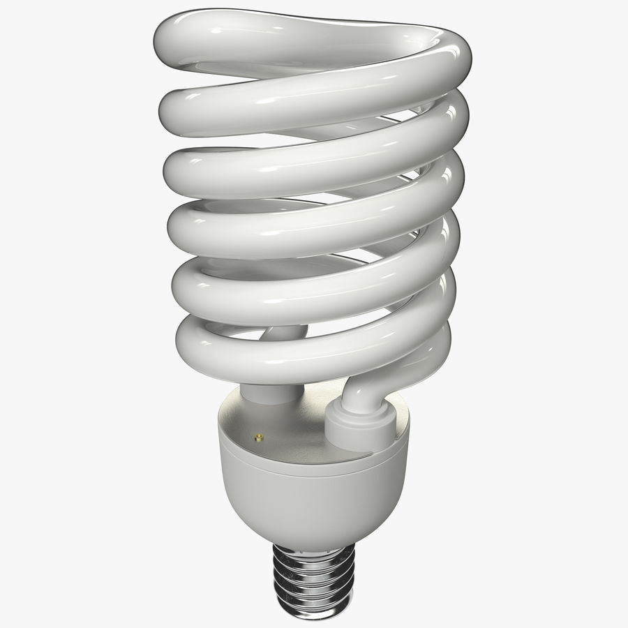 Compact Fluorescent Bulb royalty-free 3d model - Preview no. 1