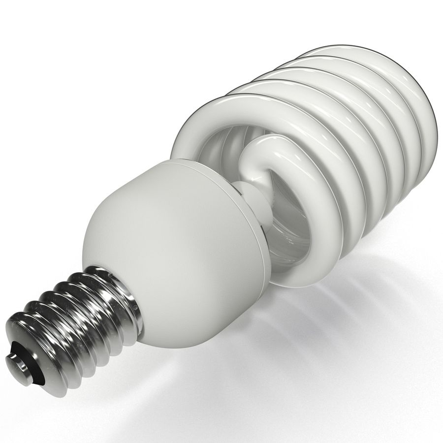 Compact Fluorescent Bulb royalty-free 3d model - Preview no. 8