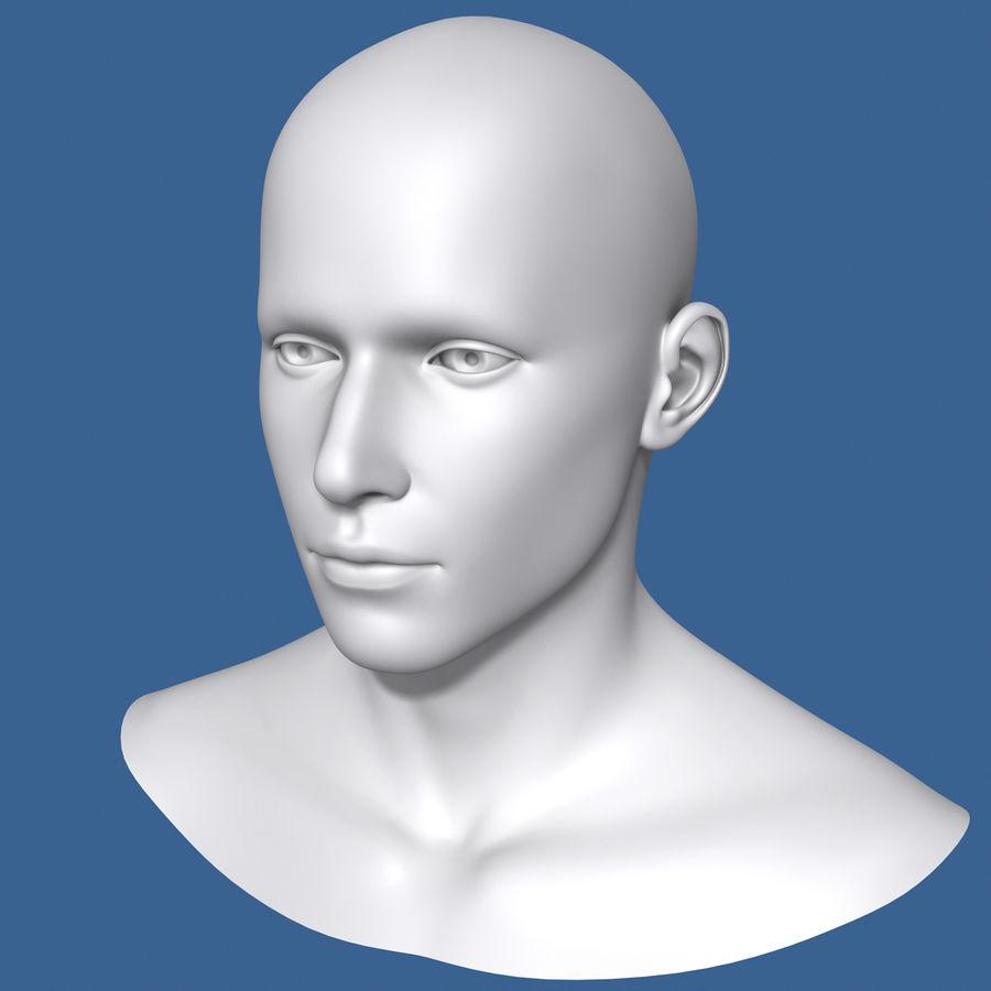 Model głowy człowieka royalty-free 3d model - Preview no. 4