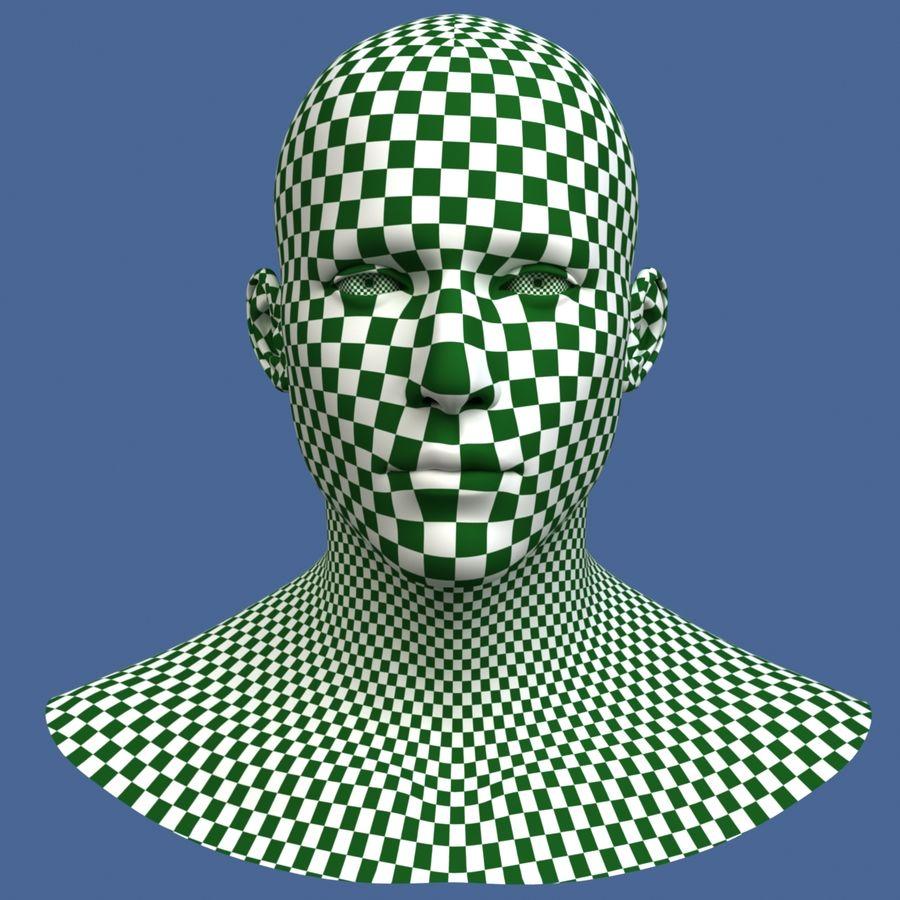 Model głowy człowieka royalty-free 3d model - Preview no. 9