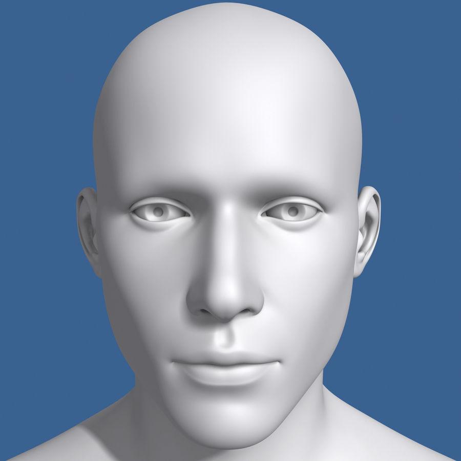 Model głowy człowieka royalty-free 3d model - Preview no. 6
