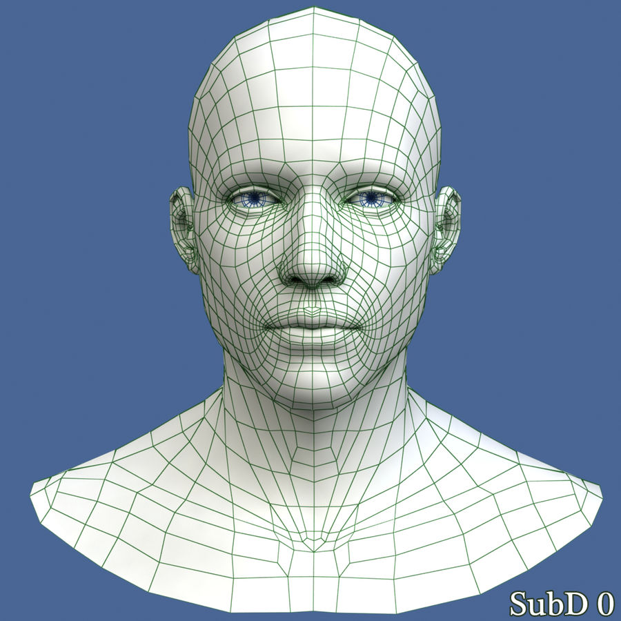 Model głowy człowieka royalty-free 3d model - Preview no. 10